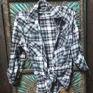 VINTAGE Forever 21 flannel plaid shirt